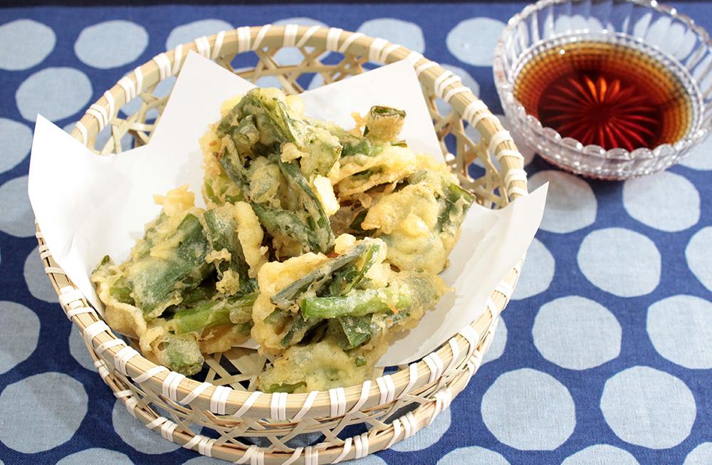 九条ねぎの天ぷら