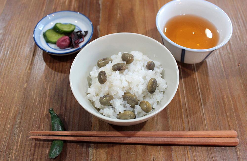丹波の黒枝豆の炊き込みご飯